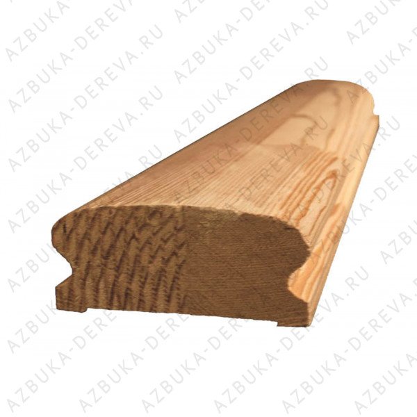 Перила (поручень) лиственница (для балясины 50*50) Класс А м/п