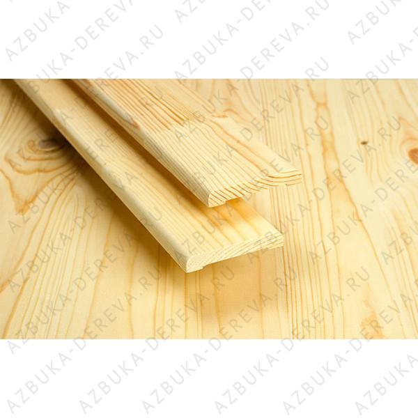 Наличник 100 мм деревянный (сосновый) гладкий м/п.