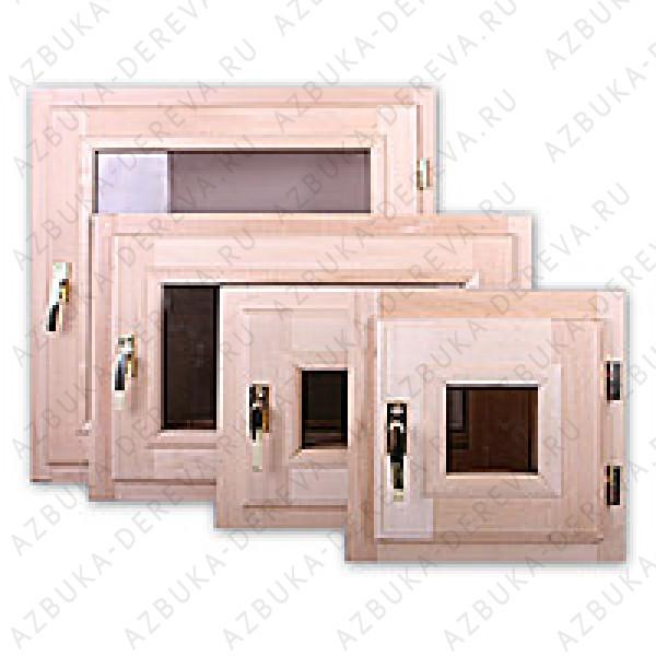 Окно (форточка) 60х60 стеклопакет липа Комплектующие для бань.