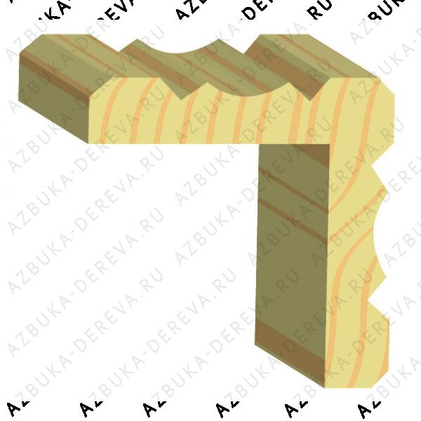 Уголок 30 деревянный фигурный