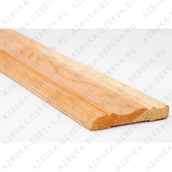 Наличник 50 мм деревянный (сосновый) фигурный м/п