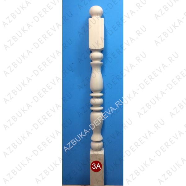 Столб начальный сосна (ель) 90*90*110 мм.рисунок 3А