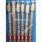 Столбы начальные деревянные из сосны