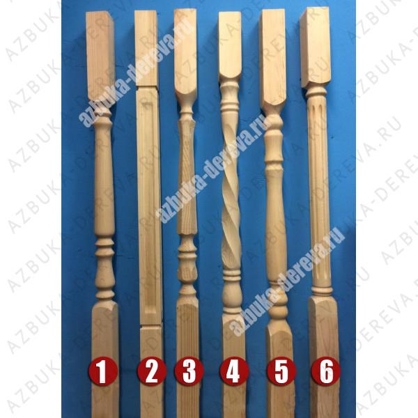 Балясины сосновые 60 х 60 х 900 мм. рис. 2/3/4/6 Класс А/A