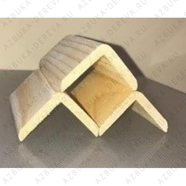 Уголок 40 деревянный сосновый наружный гладкий.